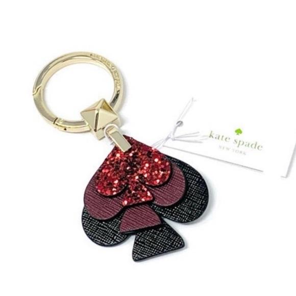 Kate Spade Stacked Spades Keychain FOB Gli…